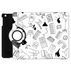 Furniture Black Decor Pattern Apple Ipad Mini Flip 360 Case