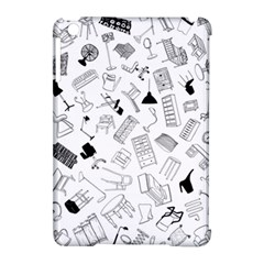 Furniture Black Decor Pattern Apple Ipad Mini Hardshell Case (compatible With Smart Cover) by Simbadda