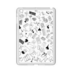 Furniture Black Decor Pattern Ipad Mini 2 Enamel Coated Cases by Simbadda