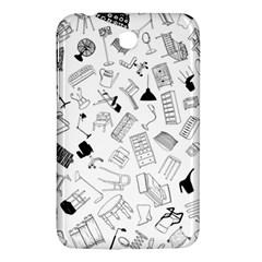 Furniture Black Decor Pattern Samsung Galaxy Tab 3 (7 ) P3200 Hardshell Case  by Simbadda