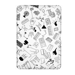 Furniture Black Decor Pattern Samsung Galaxy Tab 2 (10 1 ) P5100 Hardshell Case  by Simbadda