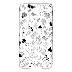 Furniture Black Decor Pattern Samsung Galaxy S5 Back Case (white) by Simbadda