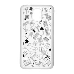 Furniture Black Decor Pattern Samsung Galaxy S5 Case (white) by Simbadda
