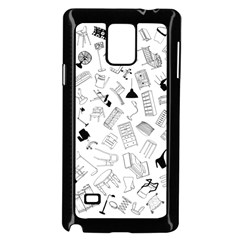 Furniture Black Decor Pattern Samsung Galaxy Note 4 Case (black) by Simbadda