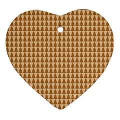 Pattern Gingerbread Brown Ornament (heart) by Simbadda