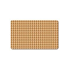 Pattern Gingerbread Brown Magnet (name Card) by Simbadda