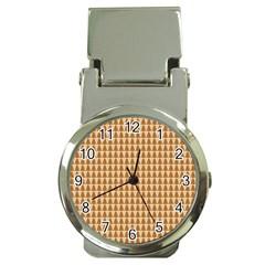 Pattern Gingerbread Brown Money Clip Watches by Simbadda