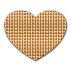 Pattern Gingerbread Brown Heart Mousepads by Simbadda