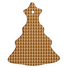 Pattern Gingerbread Brown Ornament (christmas Tree)  by Simbadda