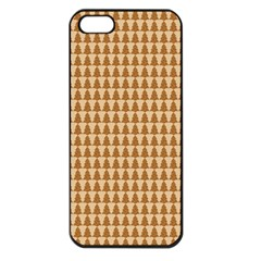Pattern Gingerbread Brown Apple Iphone 5 Seamless Case (black) by Simbadda
