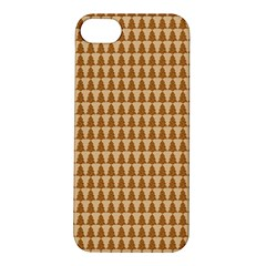 Pattern Gingerbread Brown Apple Iphone 5s/ Se Hardshell Case by Simbadda