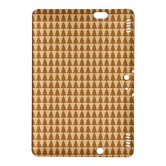 Pattern Gingerbread Brown Kindle Fire Hdx 8 9  Hardshell Case by Simbadda