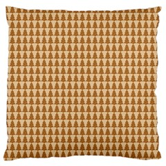 Pattern Gingerbread Brown Standard Flano Cushion Case (one Side) by Simbadda