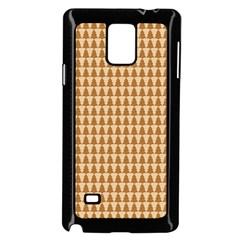 Pattern Gingerbread Brown Samsung Galaxy Note 4 Case (black) by Simbadda