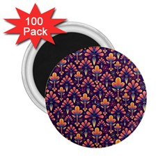 Abstract Background Floral Pattern 2 25  Magnets (100 Pack)  by Simbadda