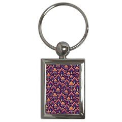 Abstract Background Floral Pattern Key Chains (rectangle)  by Simbadda