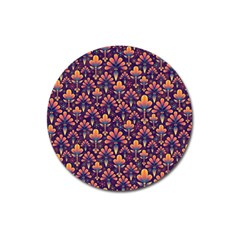 Abstract Background Floral Pattern Magnet 3  (round) by Simbadda