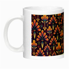 Abstract Background Floral Pattern Night Luminous Mugs by Simbadda