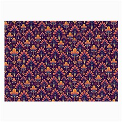 Abstract Background Floral Pattern Large Glasses Cloth by Simbadda