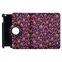 Abstract Background Floral Pattern Apple Ipad 3/4 Flip 360 Case by Simbadda
