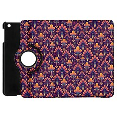 Abstract Background Floral Pattern Apple Ipad Mini Flip 360 Case by Simbadda