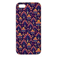 Abstract Background Floral Pattern Apple Iphone 5 Premium Hardshell Case by Simbadda