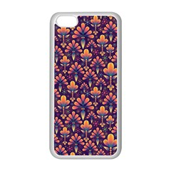 Abstract Background Floral Pattern Apple Iphone 5c Seamless Case (white) by Simbadda