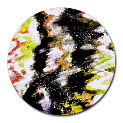 Canvas Acrylic Digital Design Round Mousepads by Simbadda