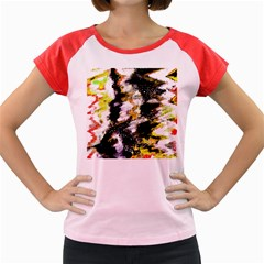 Canvas Acrylic Digital Design Women s Cap Sleeve T Shirt by Simbadda
