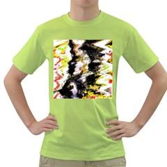 Canvas Acrylic Digital Design Green T Shirt by Simbadda