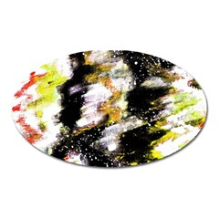 Canvas Acrylic Digital Design Oval Magnet by Simbadda