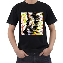 Canvas Acrylic Digital Design Men s T Shirt (black) by Simbadda