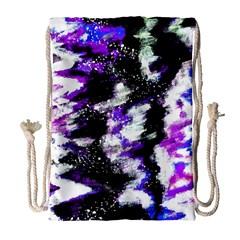 Canvas Acrylic Digital Design Drawstring Bag (large) by Simbadda
