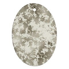 Wall Rock Pattern Structure Dirty Ornament (oval) by Simbadda