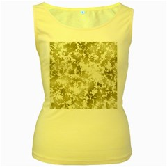 Wall Rock Pattern Structure Dirty Women s Yellow Tank Top by Simbadda
