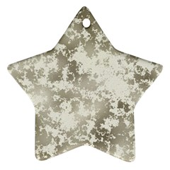 Wall Rock Pattern Structure Dirty Star Ornament (two Sides) by Simbadda