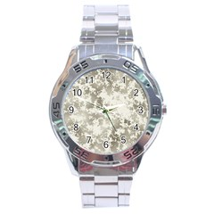 Wall Rock Pattern Structure Dirty Stainless Steel Analogue Watch by Simbadda
