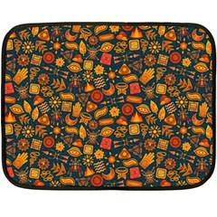 Pattern Background Ethnic Tribal Fleece Blanket (mini)