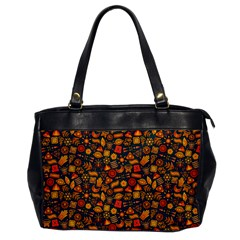 Pattern Background Ethnic Tribal Office Handbags by Simbadda