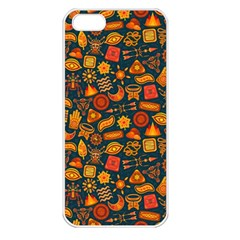 Pattern Background Ethnic Tribal Apple Iphone 5 Seamless Case (white) by Simbadda