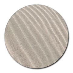 Sand Pattern Wave Texture Round Mousepads