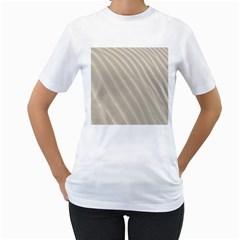 Sand Pattern Wave Texture Women s T Shirt (white) (two Sided) by Simbadda