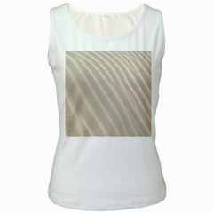 Sand Pattern Wave Texture Women s White Tank Top by Simbadda