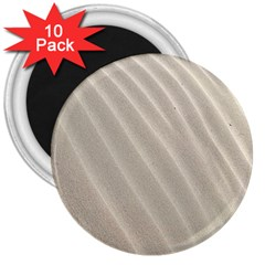Sand Pattern Wave Texture 3  Magnets (10 Pack)  by Simbadda