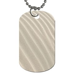Sand Pattern Wave Texture Dog Tag (two Sides) by Simbadda