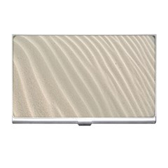 Sand Pattern Wave Texture Business Card Holders by Simbadda