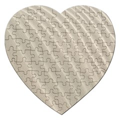 Sand Pattern Wave Texture Jigsaw Puzzle (heart) by Simbadda