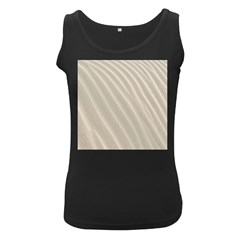 Sand Pattern Wave Texture Women s Black Tank Top by Simbadda