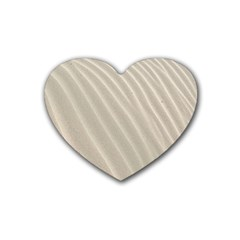 Sand Pattern Wave Texture Rubber Coaster (heart)  by Simbadda