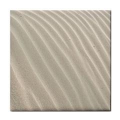 Sand Pattern Wave Texture Face Towel by Simbadda